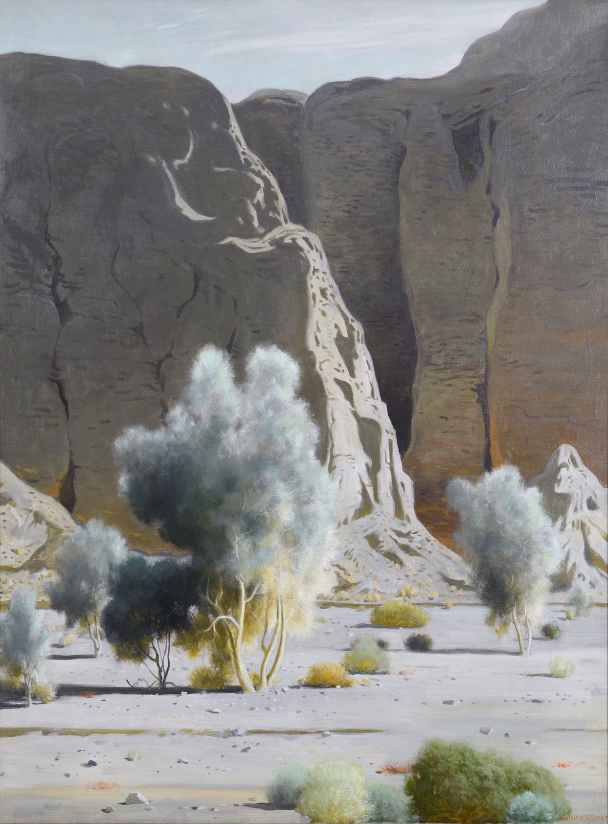 "Jimmy Swinnerton "" Desert Smoke Trees """