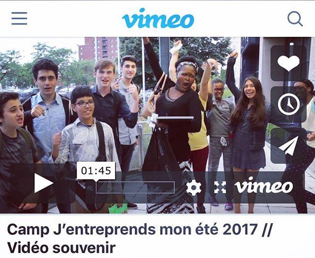 Voici la vidéo souvenir du camp J'entreprends mon été édition 2017. Lien ici —-  https://vimeo.com/232705946  Les inscriptions sont toujours en cours et le formulaire est dans la bio.  #entrepreneur #entrepreneuriat #entrepreneuriatjeunesse #jeunesse #jeunes #perseverance #leadership #ados #adolescents #montreal #mtl #été #cje #jccm
