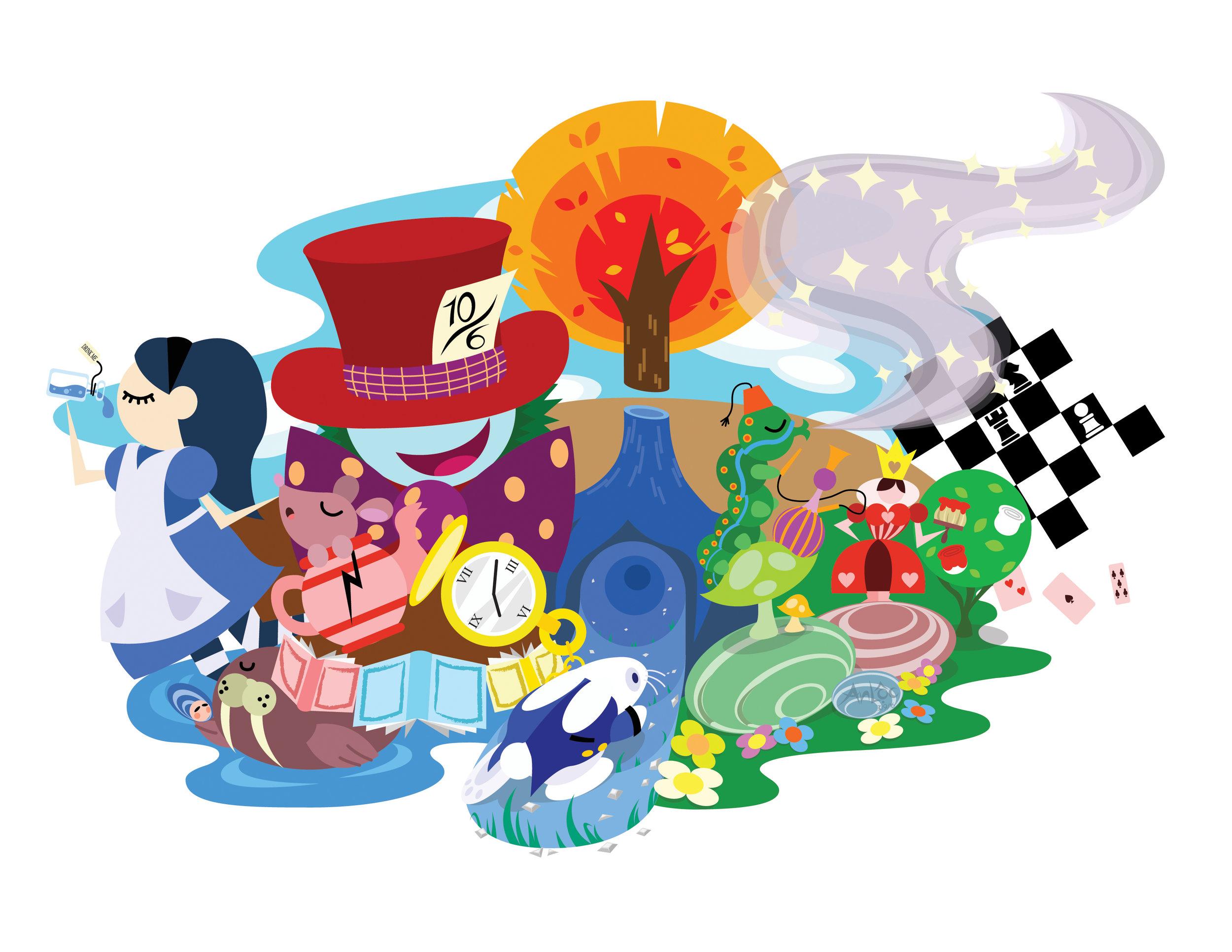 """Alice in Wonderland"" Google Doodle by An Pham"