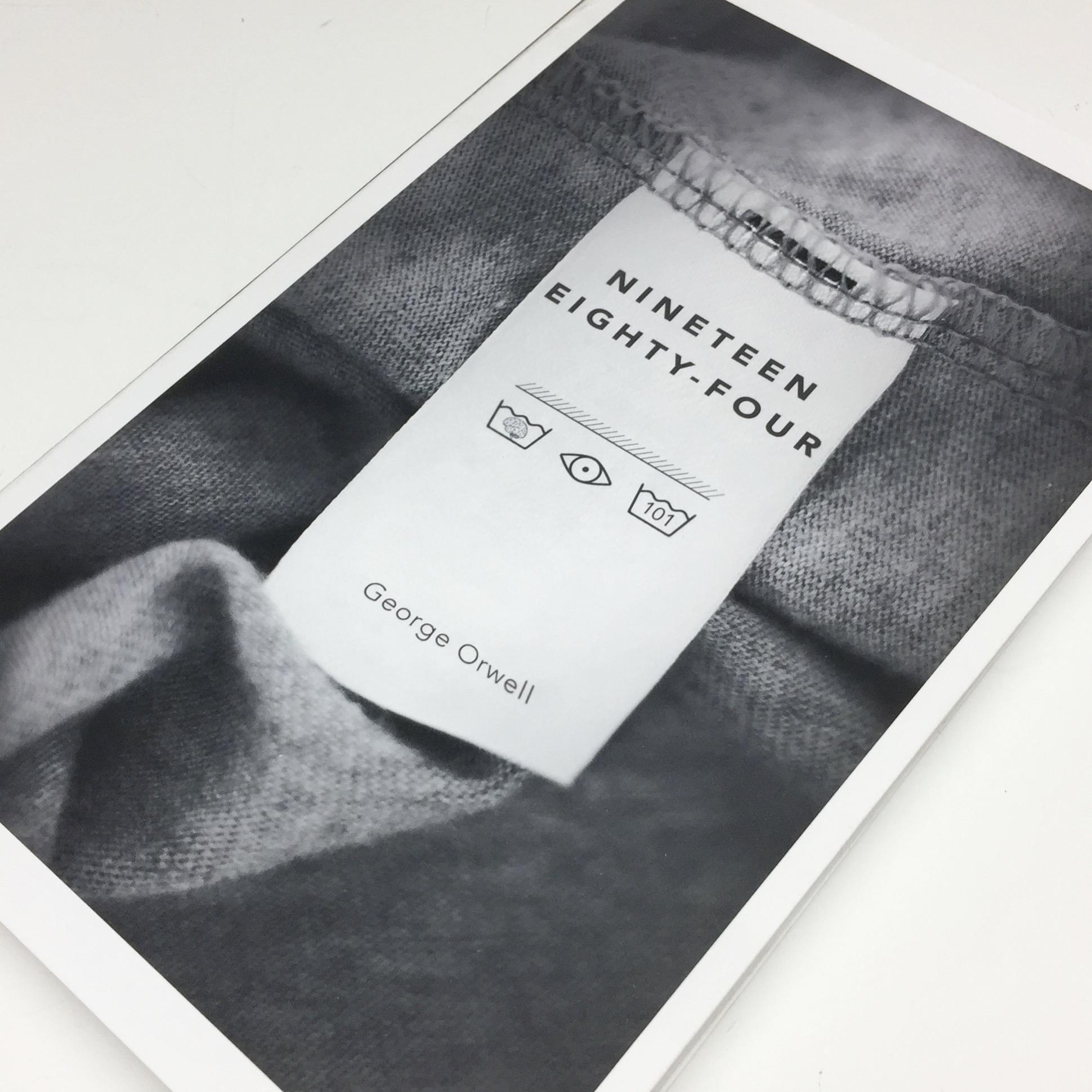 """""""1984"""" Book Cover Design by Anastasia Maimescu"""