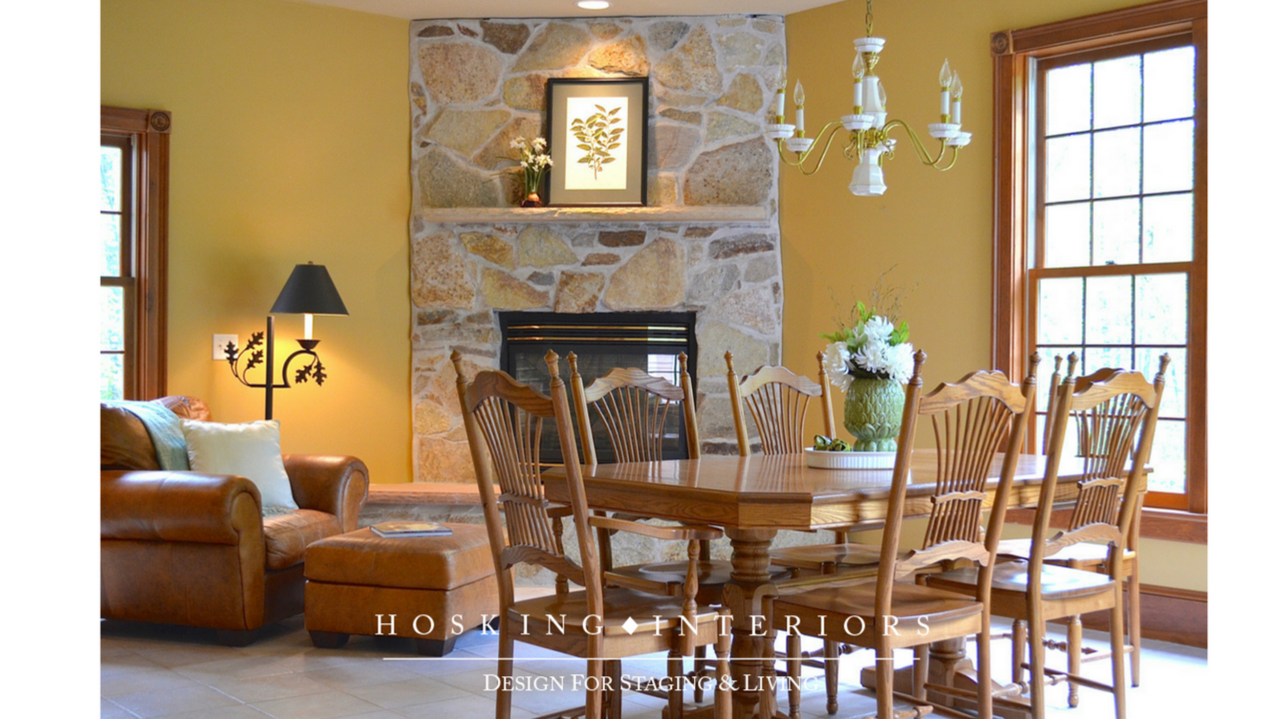 Breakfast Room, Occupied Staging