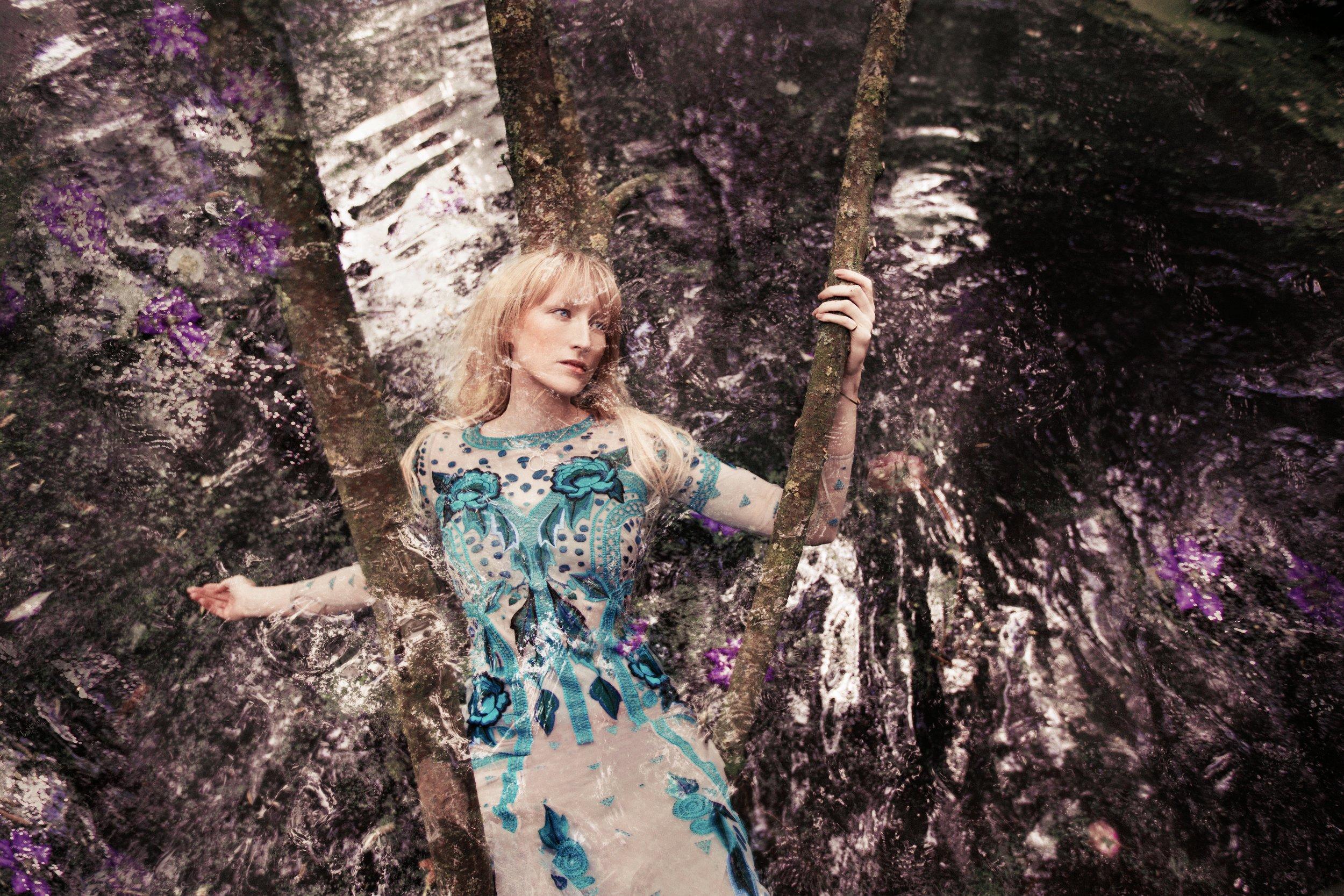 Silk Flutura dress: Temperley London / Diamond necklace: Tara Agace