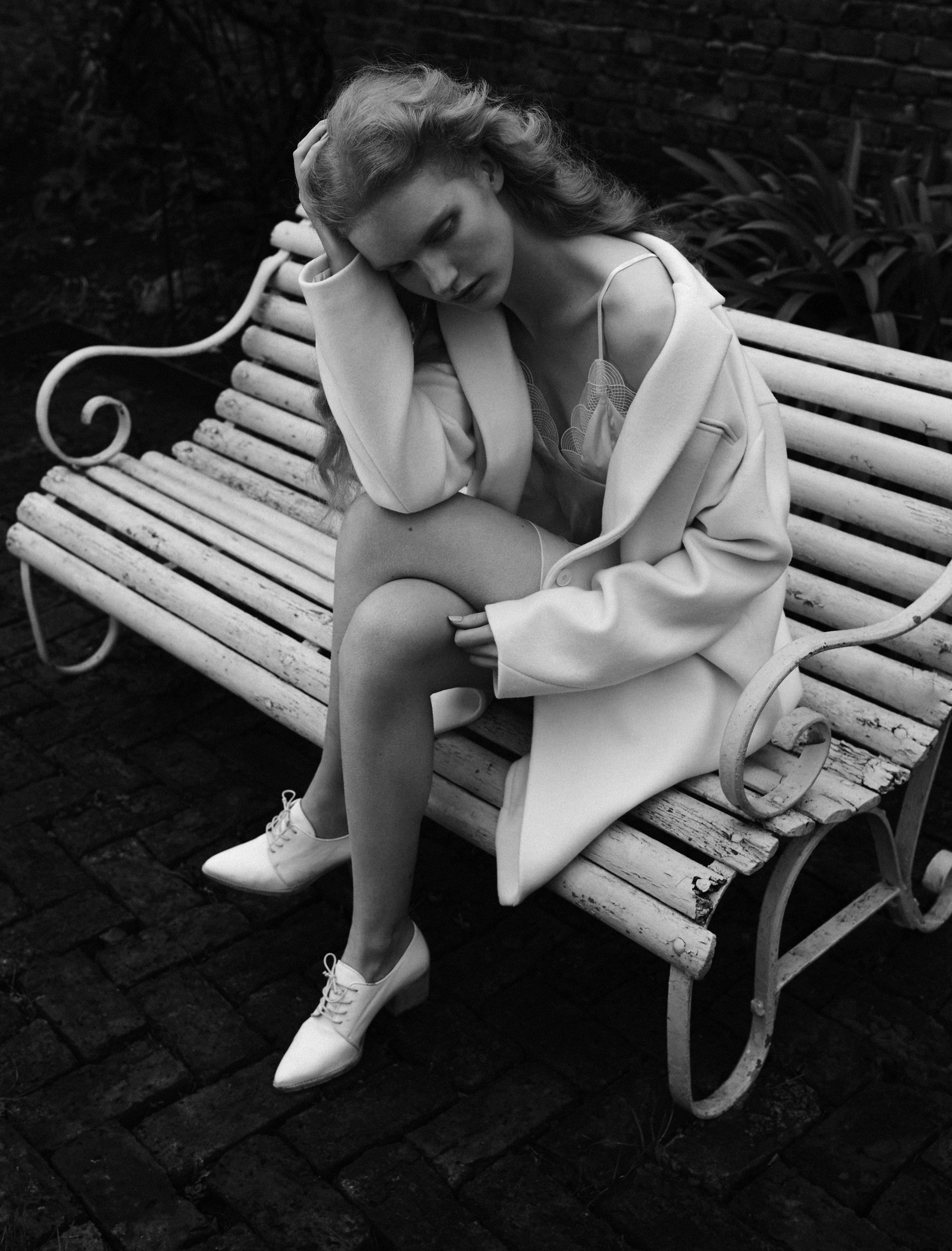 Slip: Myla / Coat: DKNY / Brogues: Stuart Weitzman