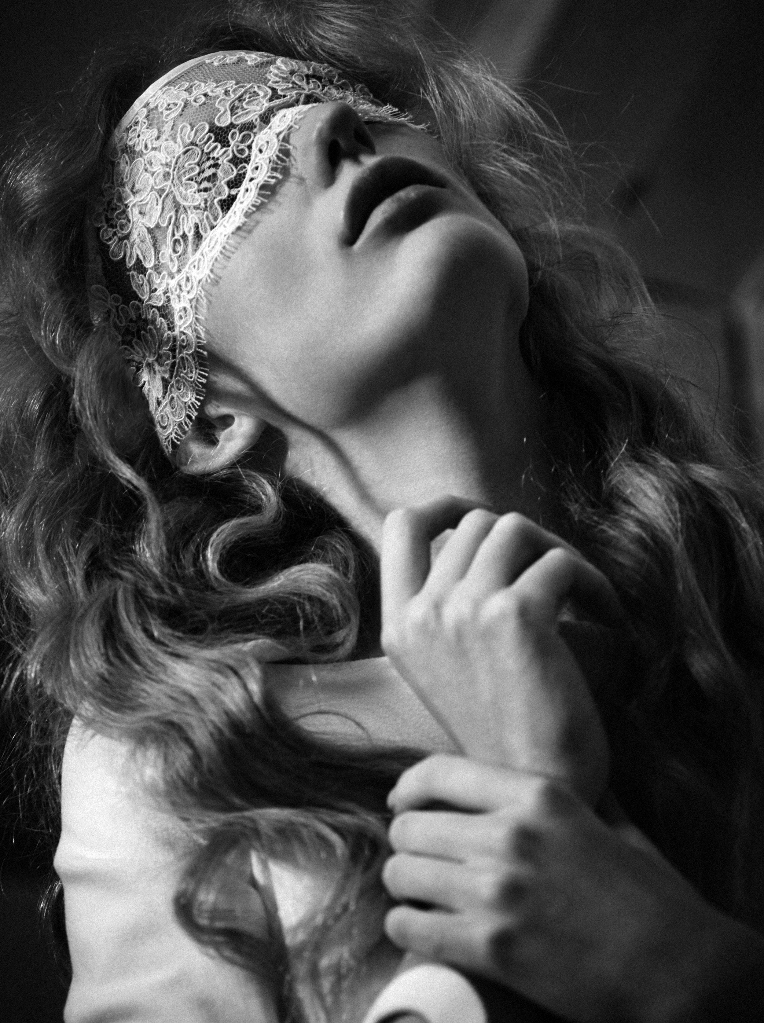 Dress: Carven / Blindfold: Olivia Von Halle