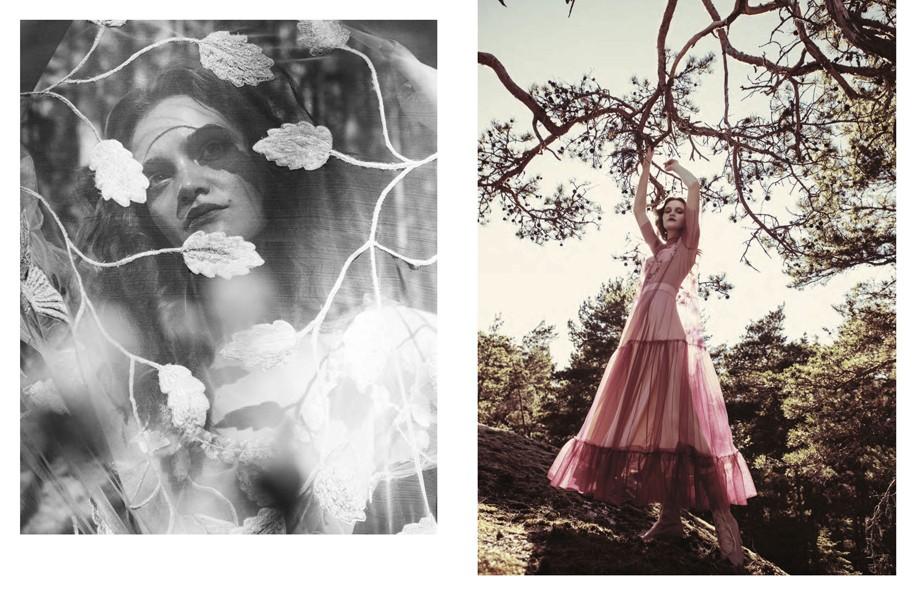 Left | Dress: Luisa Beccaria Right | Chiffon Dress: Stella McCartney / Boots: Valentino