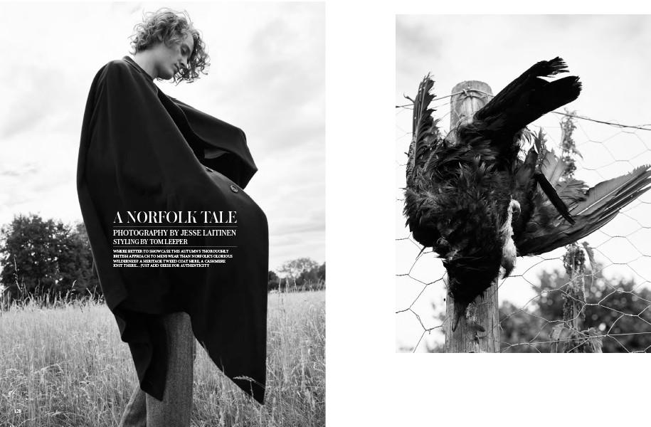Cape: Caruso / Jumper: Sunspel Trousers: Thom Sweeney