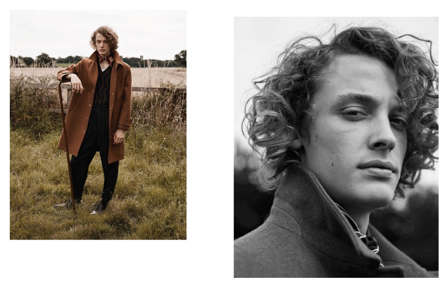 both pictures: Coat: AMI / Jumper and trousers: Ermenigildo Zegna Couture / Vest: Sunspel / Neckerchief: Turnbull & Asser / Shoes: John Lobb