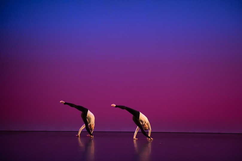 Michael Clark Company to a simple, rock 'n' roll . . . song. Satie Studs Ogives 2: Kieran Page, Melissa Hetherington