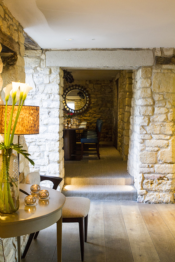 A nook at Dormy House (a little private dining area)