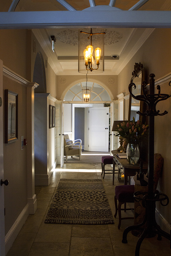 The hallway in Foxhill Manor