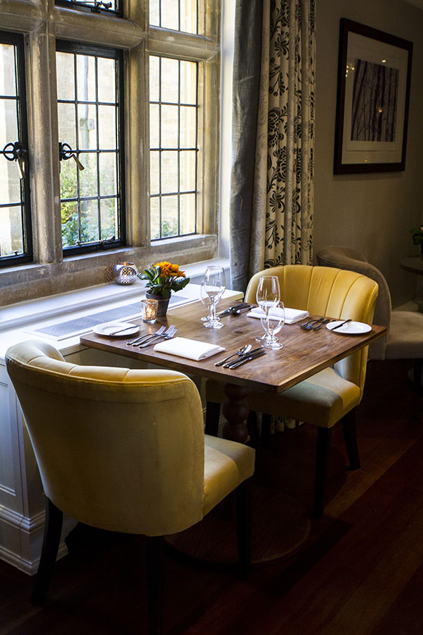 A dining space at Foxhill Manor