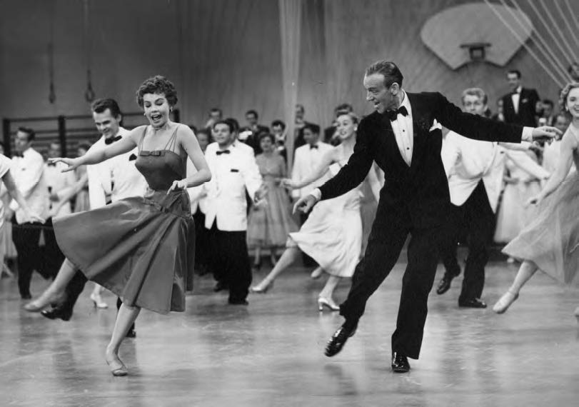 Dancing with Fred Astaire in a still from Daddy Long Legs (1955)