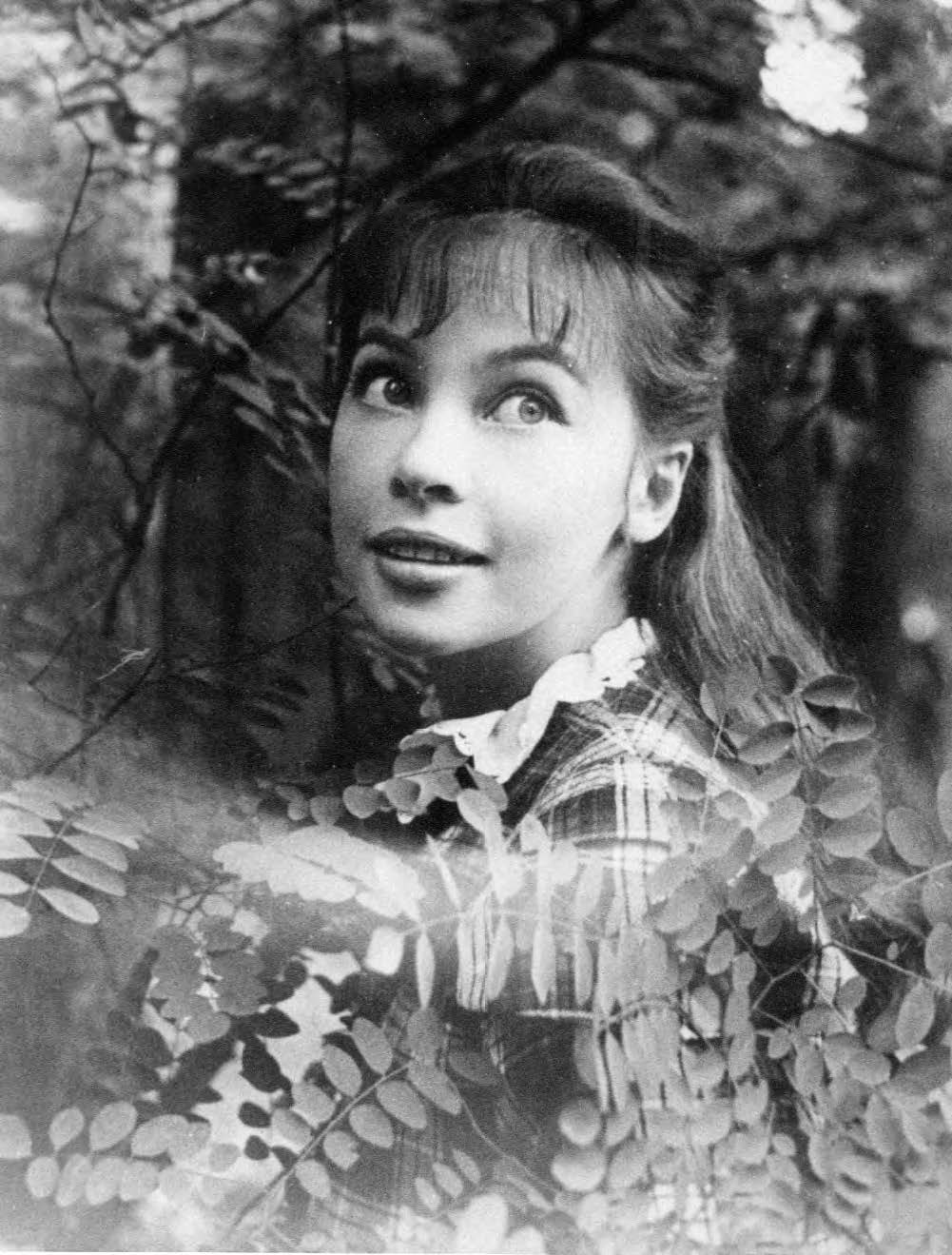 A portrait by Cecil Beaton taken during the filming of Gigi, in the Bois de Boulogne