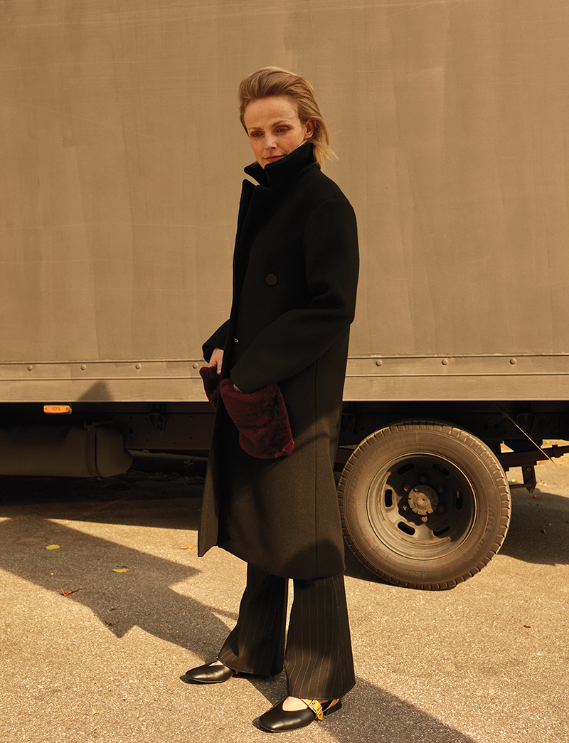 Coat and trousers:  Ellery  / Shoes:  Yuul Yie