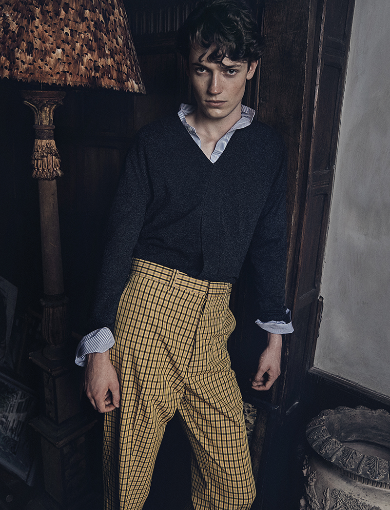 Jumper and shirt: Louis Vuitton  / Trousers:  Marni