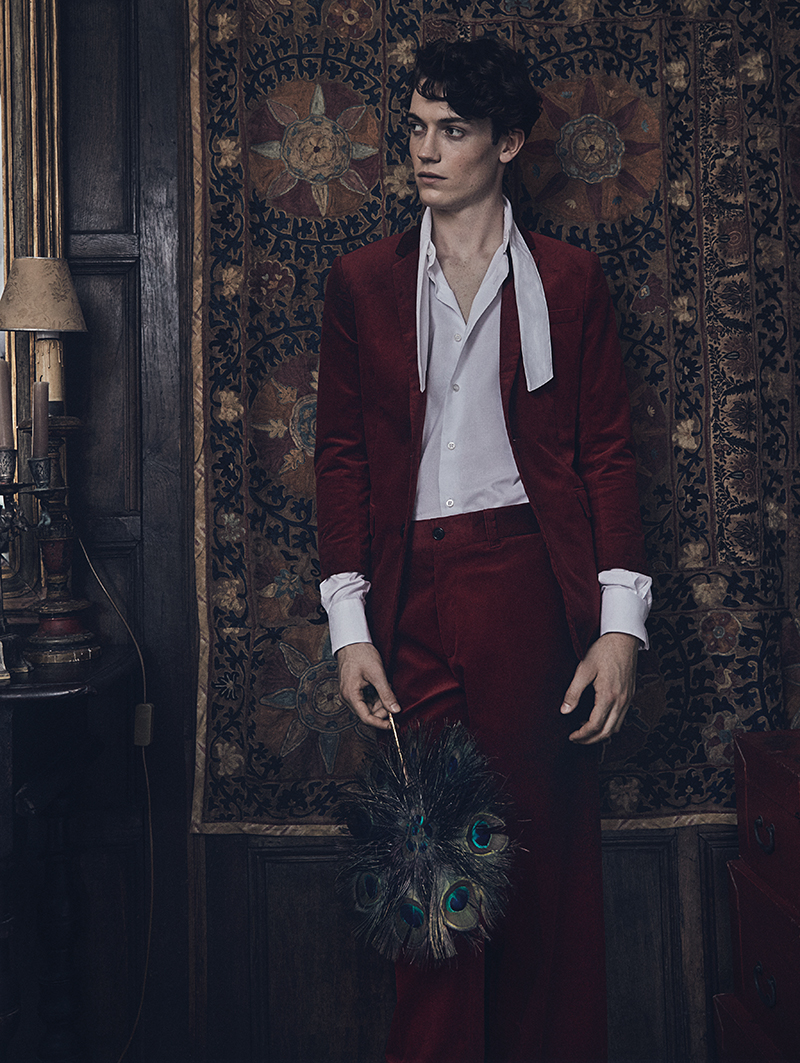 Jacket and trousers:  Dior / Shirt:  Caruso