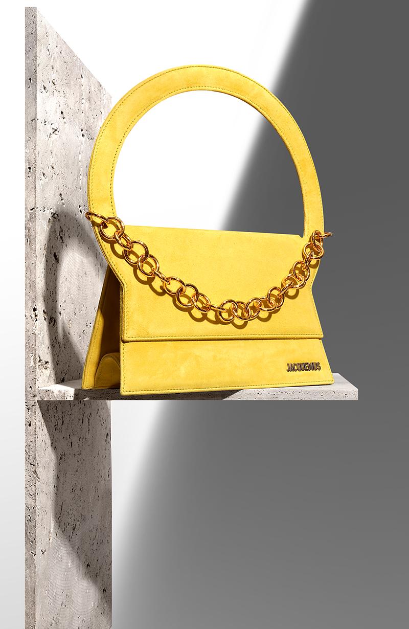 JACQUEMUS  Le Sac Rond  suede tote bag via mytheresa.com – £594.00