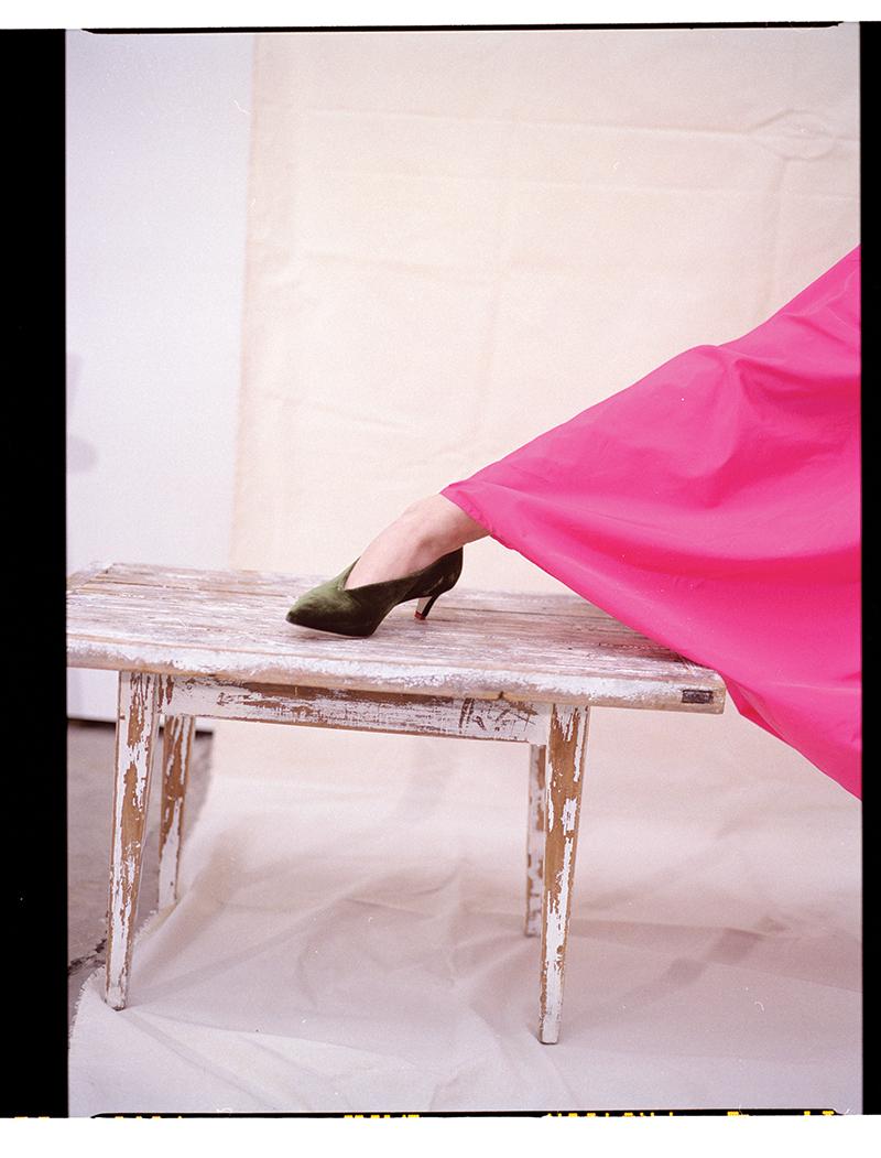 Skirt:  Stella McCartney / Shoe:  Tibi