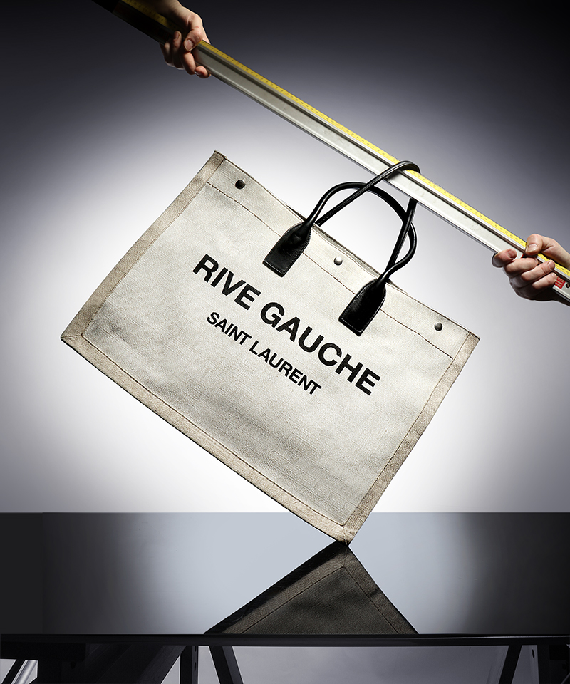 SAINT LAURENT  RIVE GAUCHE  PRINT LINEN TOTE BAG - £765
