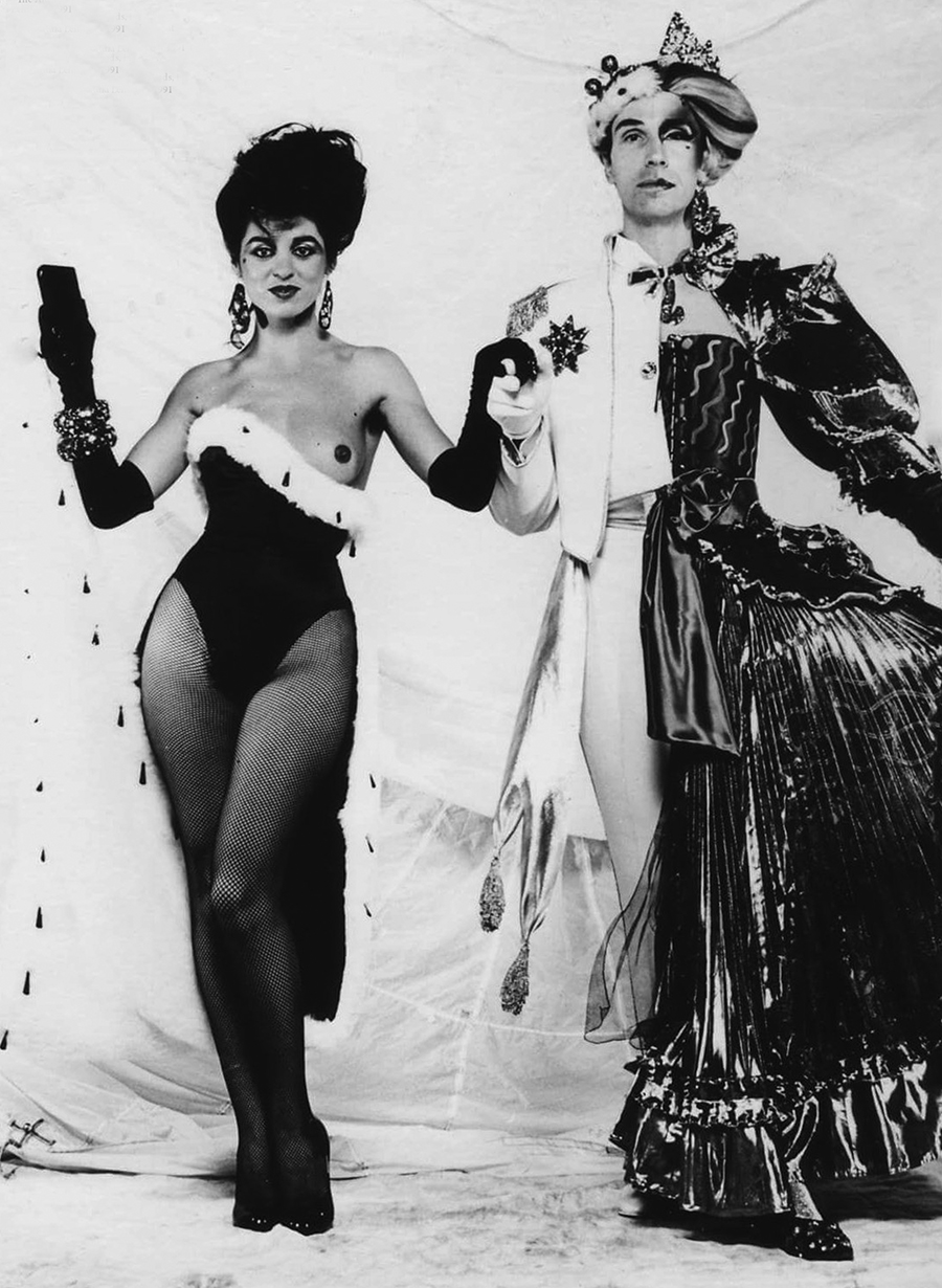 Luciana Martinez and Andrew Logan at  The Alternative Miss World  in 1981