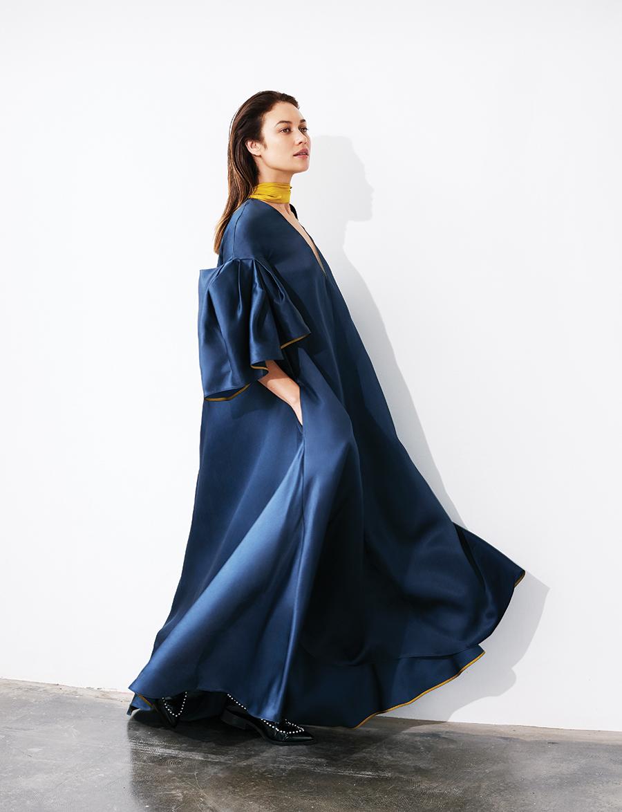 Farola  dress:  Roksanda  Pearly leather brogues:  Simone Rocha