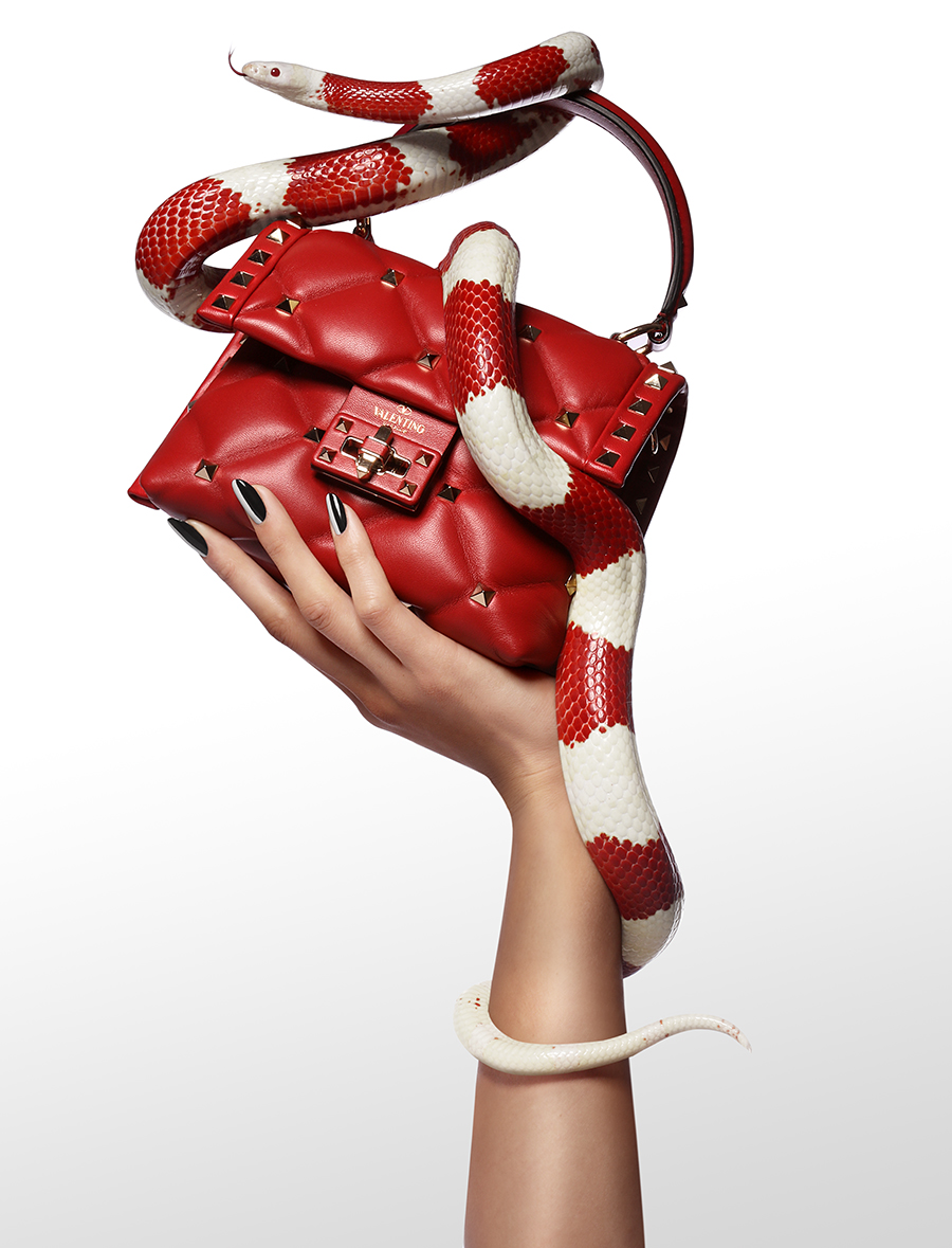 Candystud  mini quilted-leather cross-body bag, £1,360:  Valentino  @  matchesfashion.com