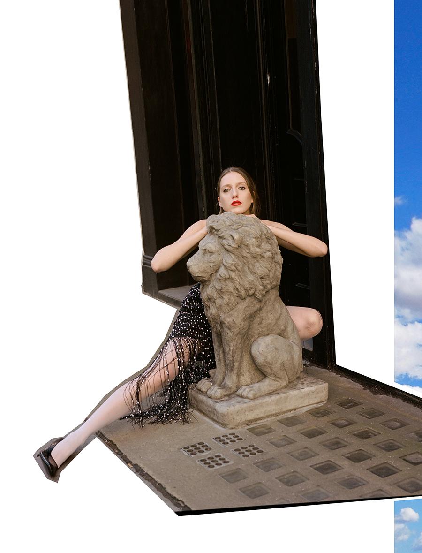 Dress:  Jacquemus  @  matchesfashion.com /  White fishnet tights:  Pierre Mantoux /  Heels:  Dorateymur