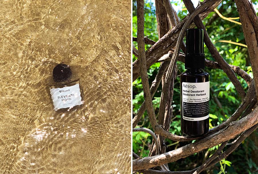 Left:   BYREDO  | Eleventh Hour Eau de Parfum , 100ml - £165.00  Right:   Aesop  | Herbal Deodorant  - £23.00