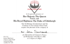 Official Invitation to meet the Queen at St James Palace