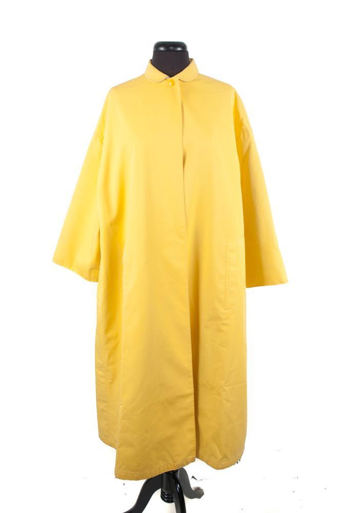 GEOFFREY BEENE Yellow Cotton Raincoat; One Size; $525.00