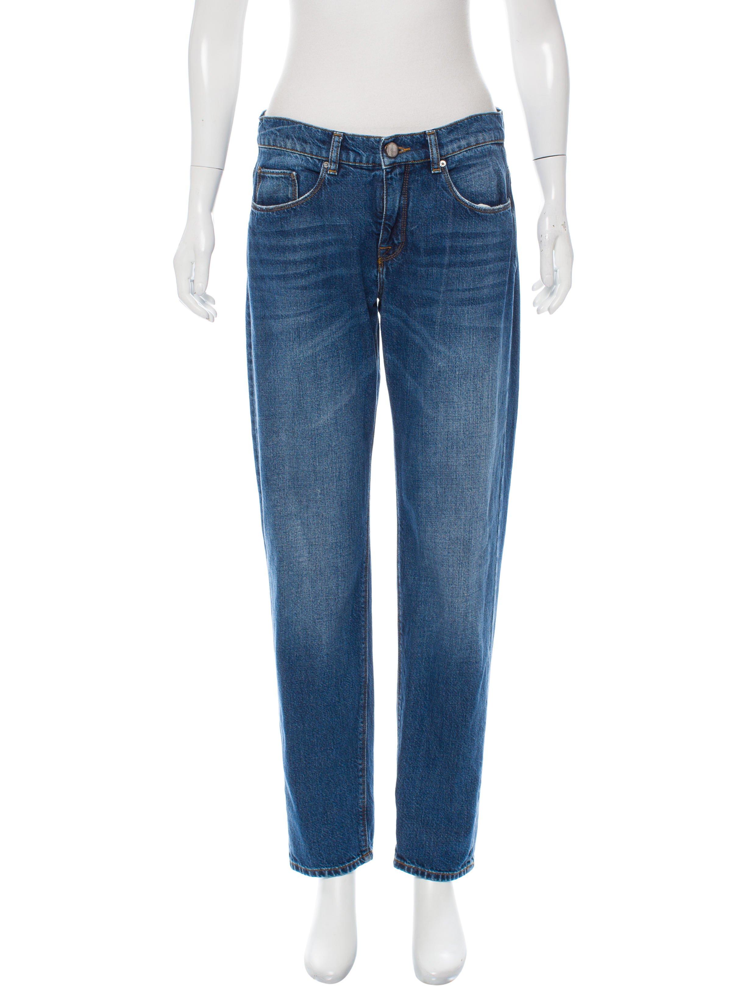 VICTORIA BECKHAM Mid-Rise Straight-Leg Jean; Size:US 27; $85.00