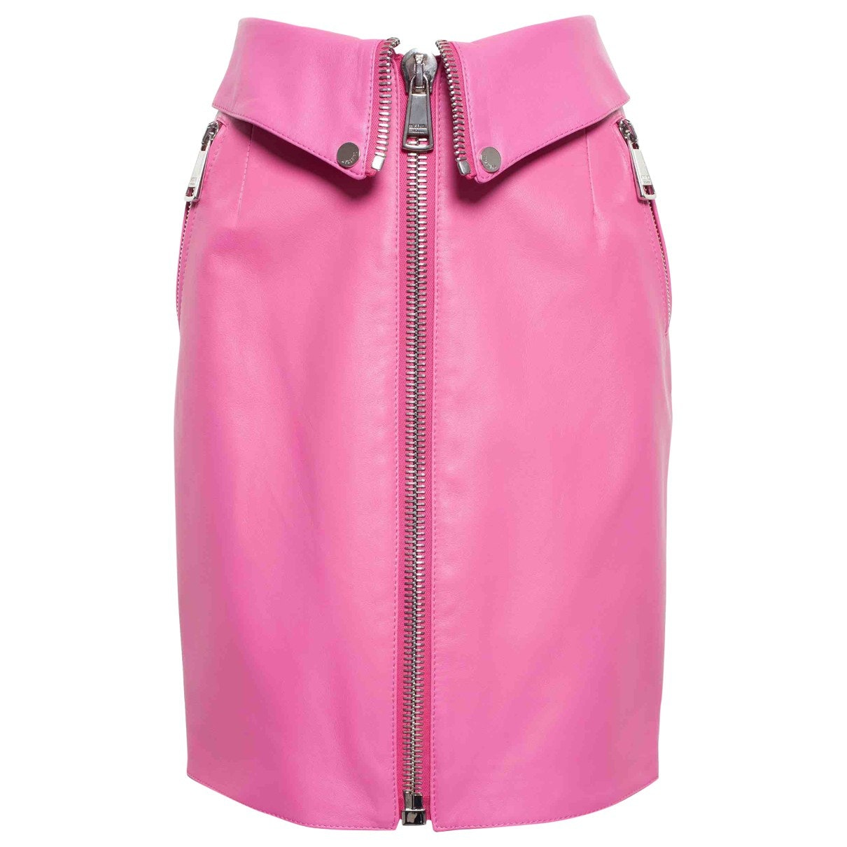 MOSCHINO Pink Leather Mini Skirt; Size: 42 FR; $470.30