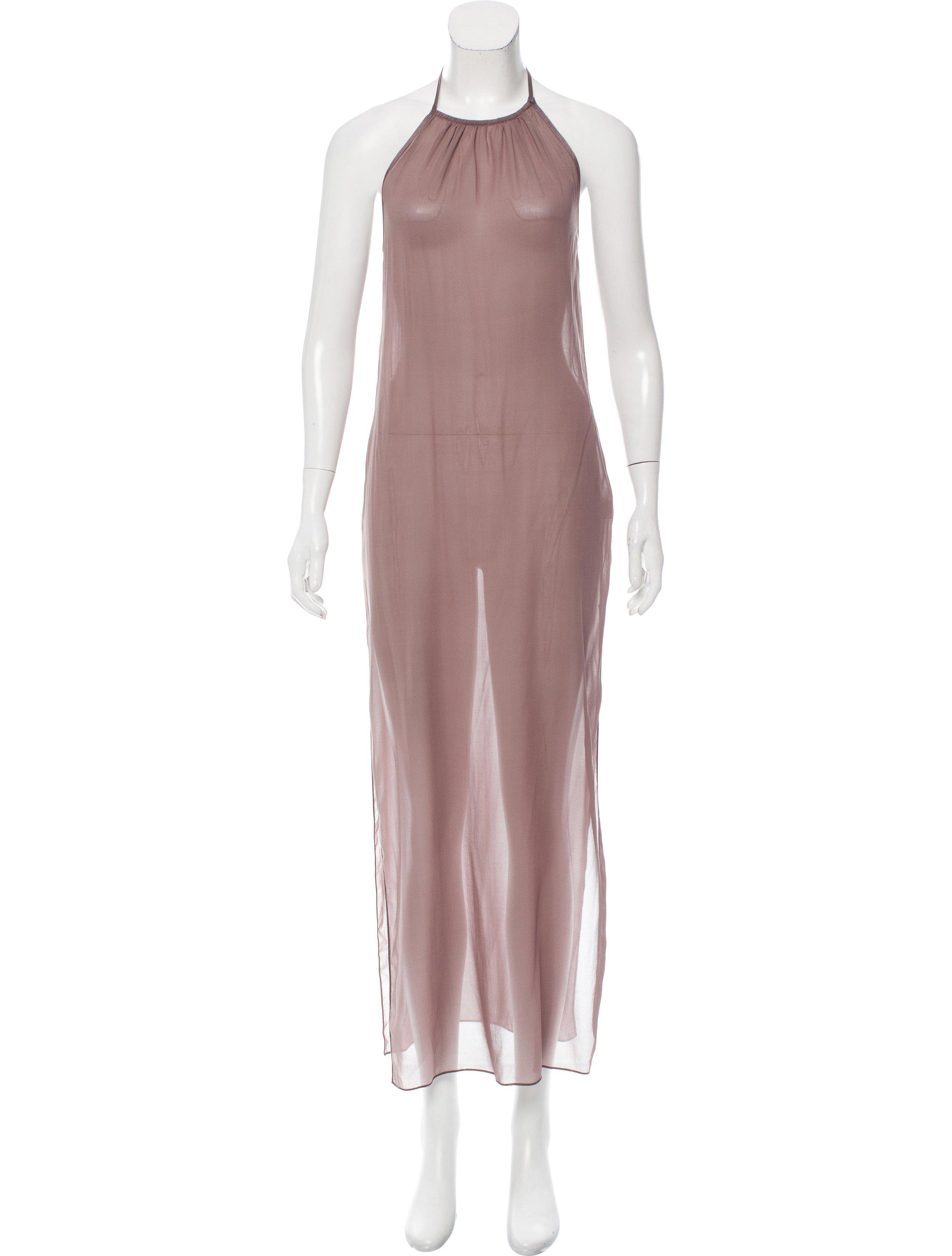 MISSONI SILK HALTER DRESS; Size: XS, US 2, IT 38; $145.00