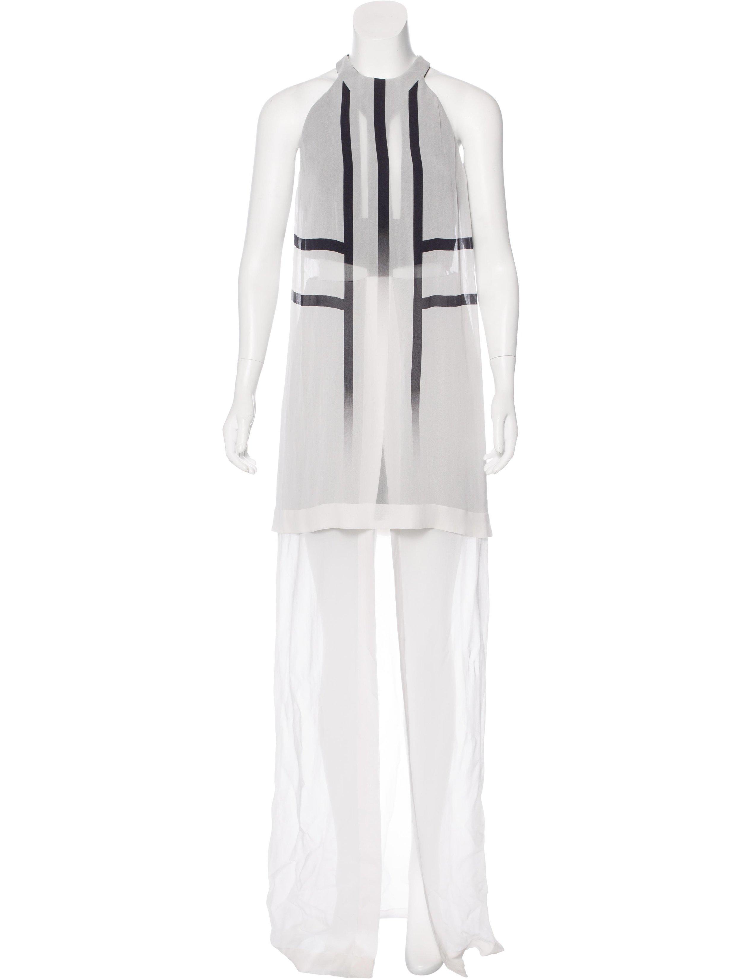 DION LEE SILK EXO PRINT DRESS; Size: M, US6, UK10; $285.00
