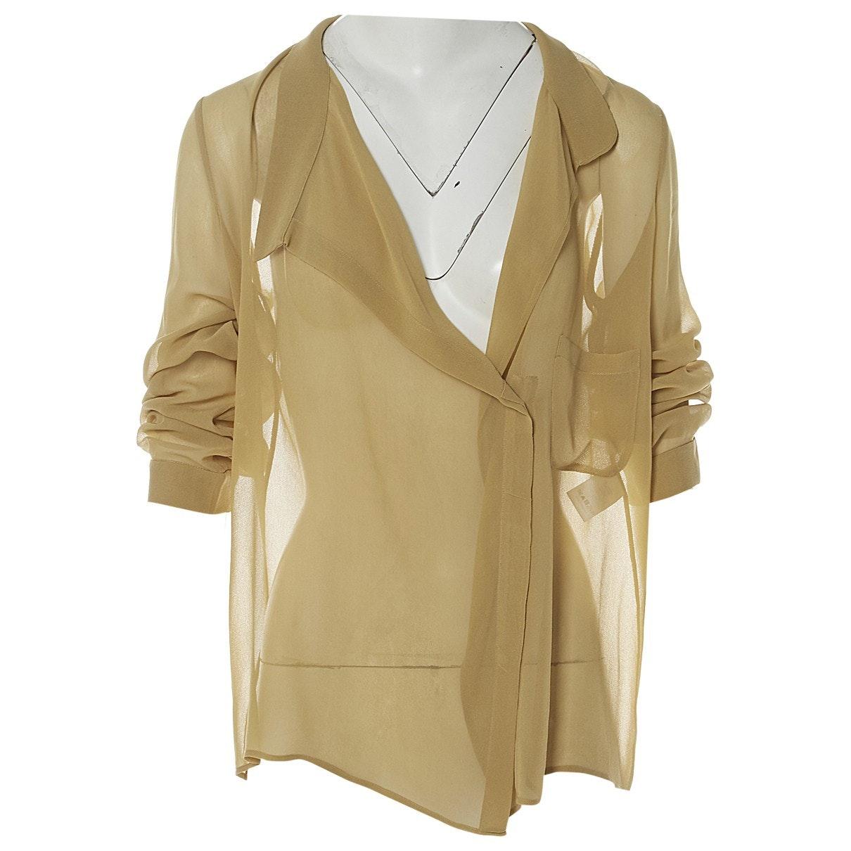 VANESSA BRUNO Nude Silk Blouse; Size: 38 FR; $175.63