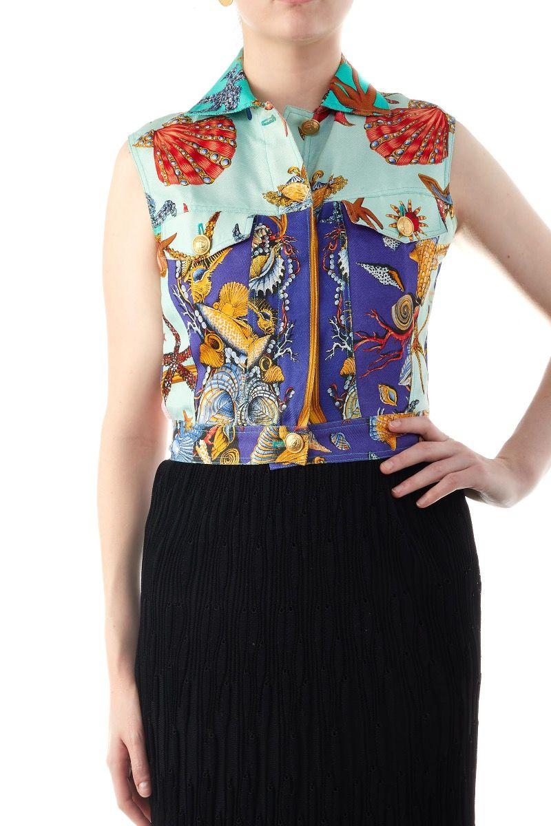 """VERSACE """"TRESOR DE LA MER"""" 1992 Collection Zip-Front Vest; $1,250.00"""