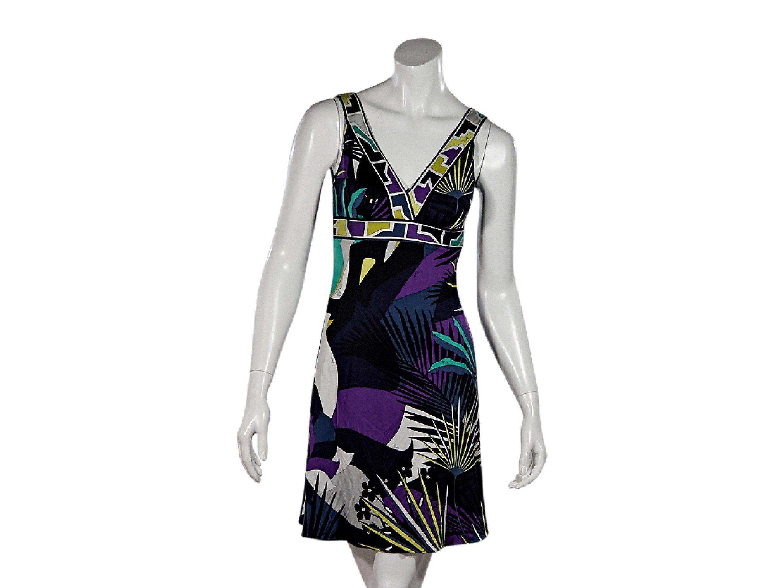 EMILIO PUCCI Multicolor Printed Mini Dress; Size: 4 US; $155