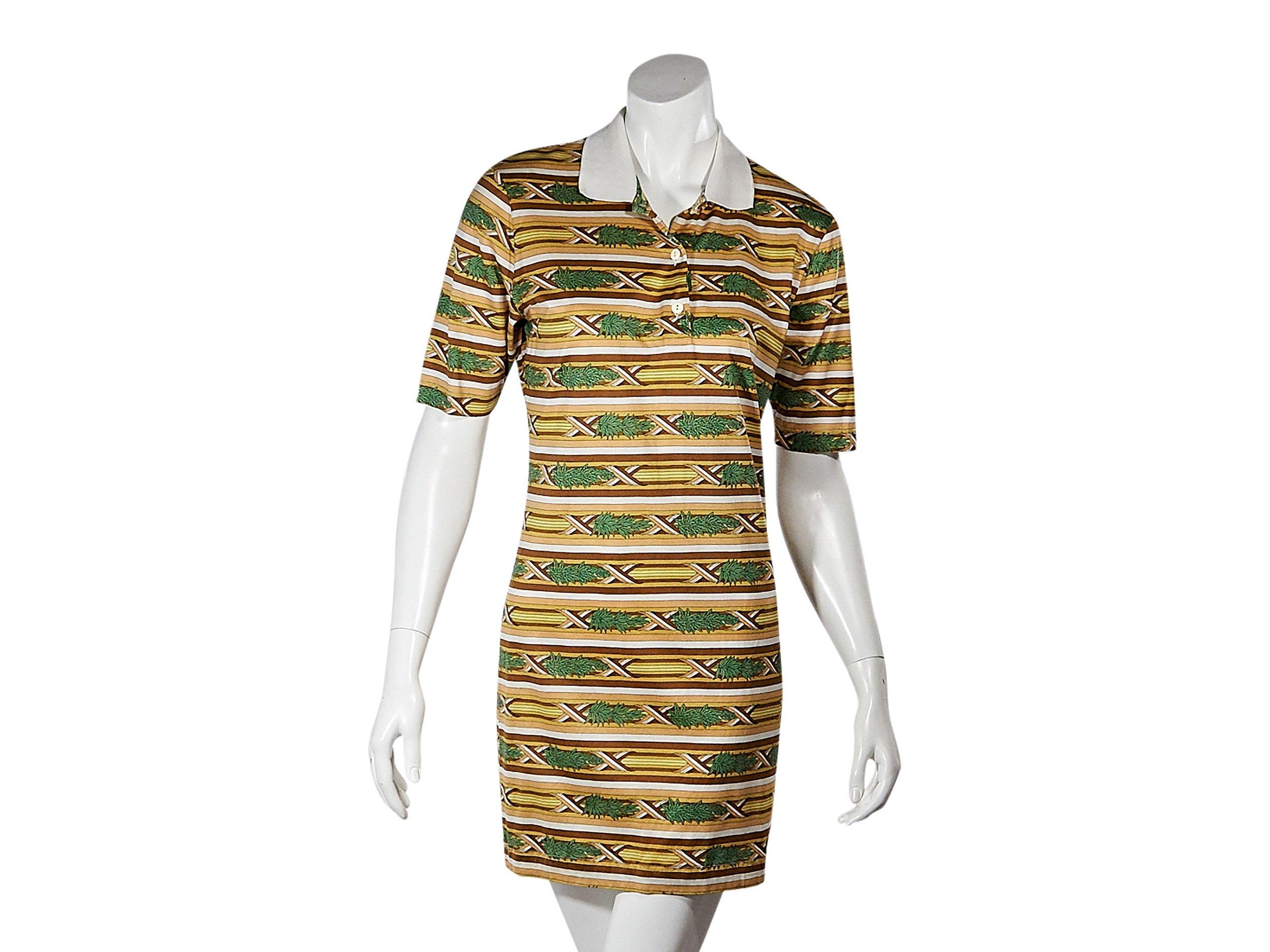 HERMÈS Multicolor Vintage Striped Shirtdress; Size: S; $385.00