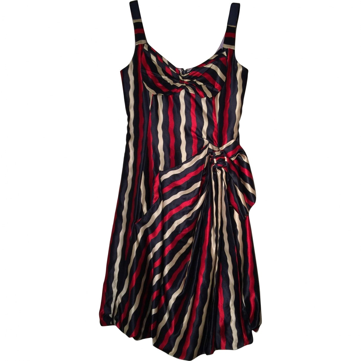 MARC JACOBS Multicolor Silk Mid-Length Dress; Size: 6 US; $180