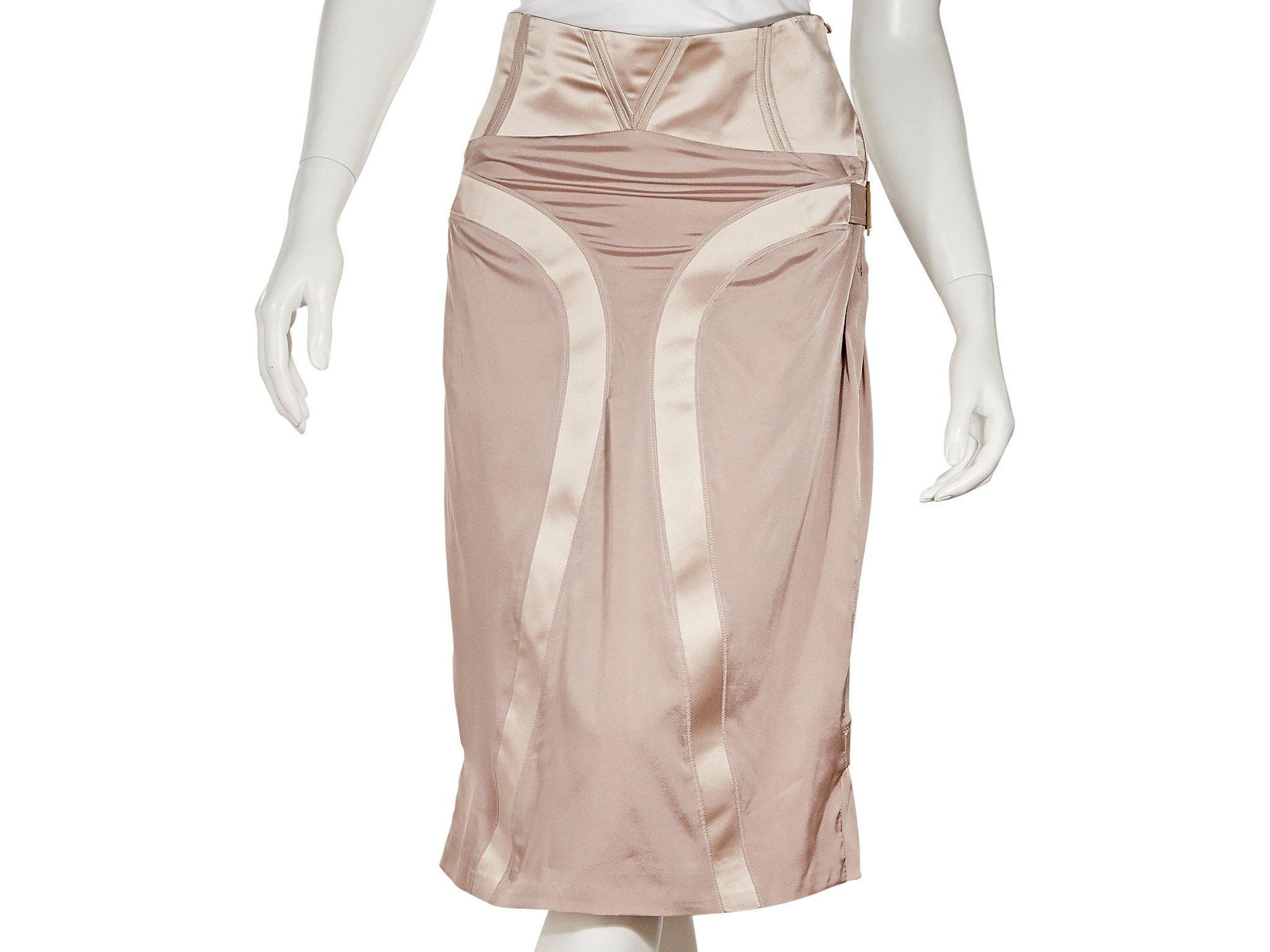 GUCCI Light Pink Gucci Silk Pencil Skirt;Size: 8 US; $985