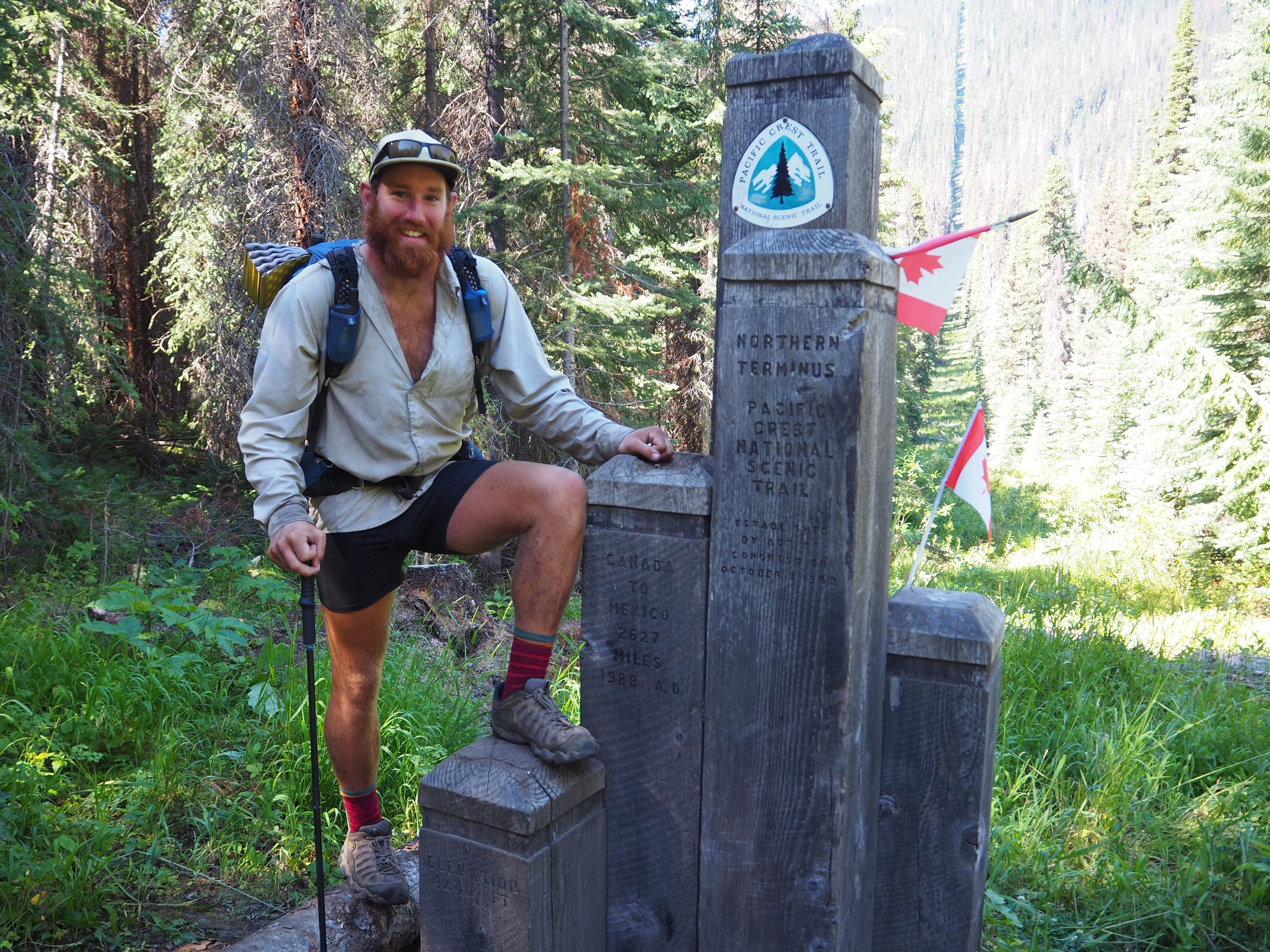 Pacific Crest Trail Northern Terminous.