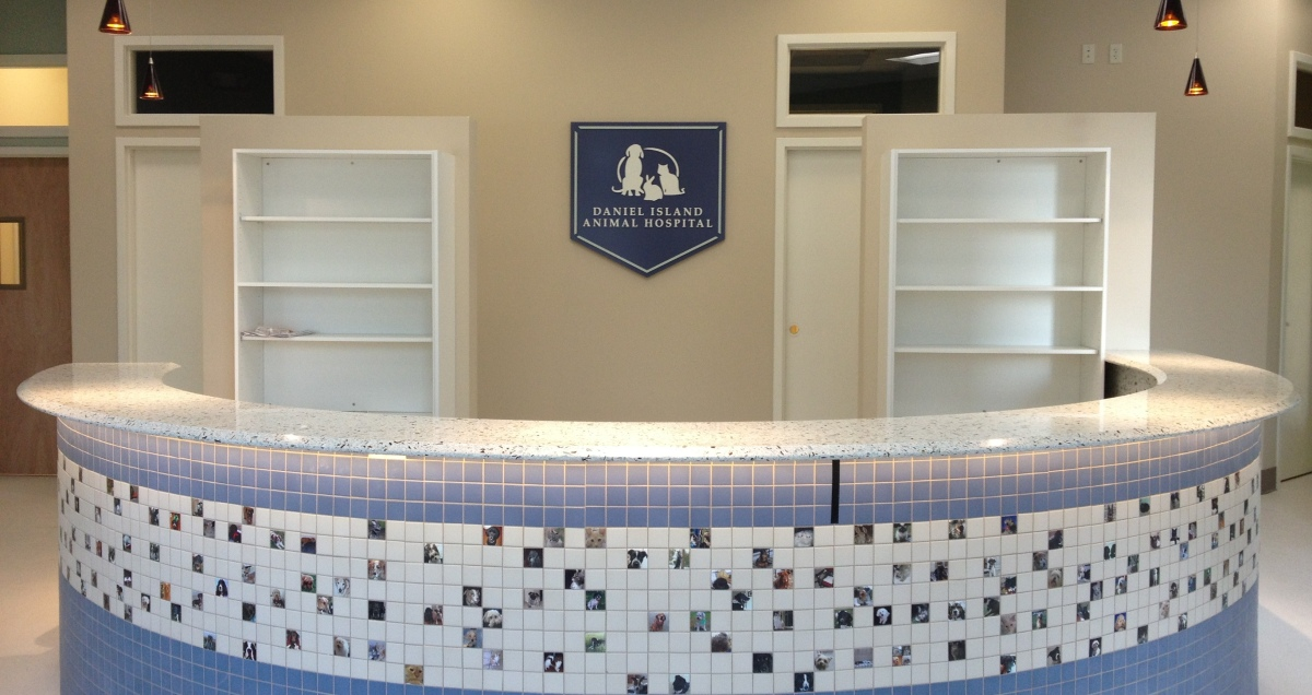 New Front Desk with Pet Tiles