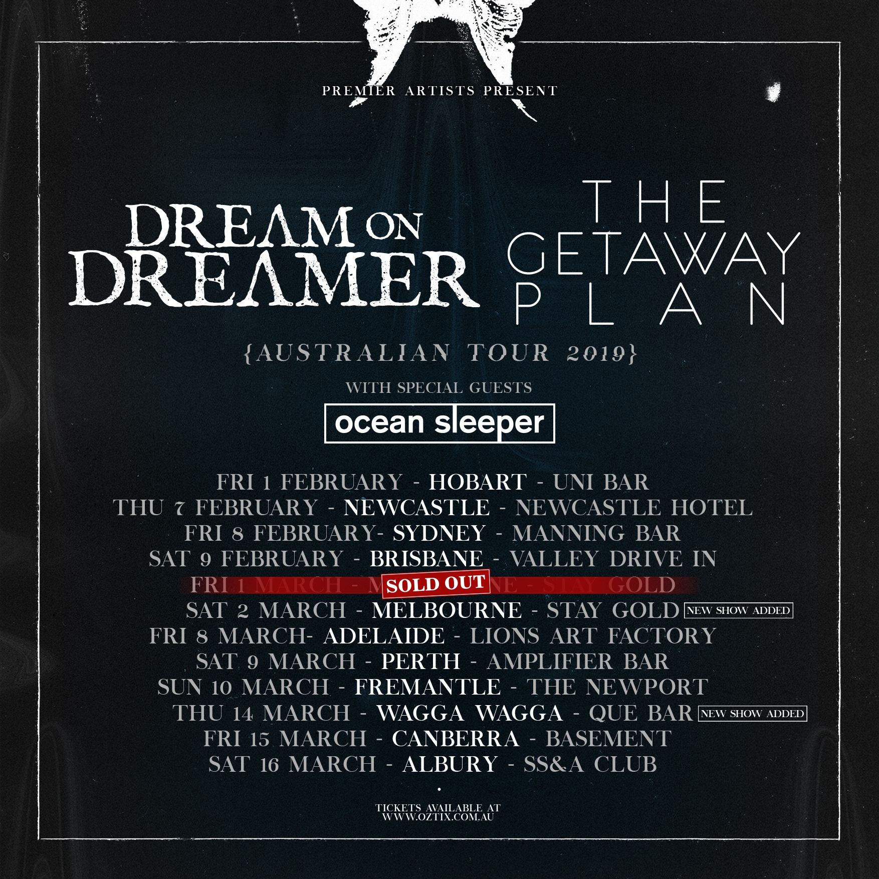 THE GETAWAY PLAN & DREAM ON DREAMER, SYDNEY 08/02/2019 -  VOICES WITHIN THE SHADOWS!