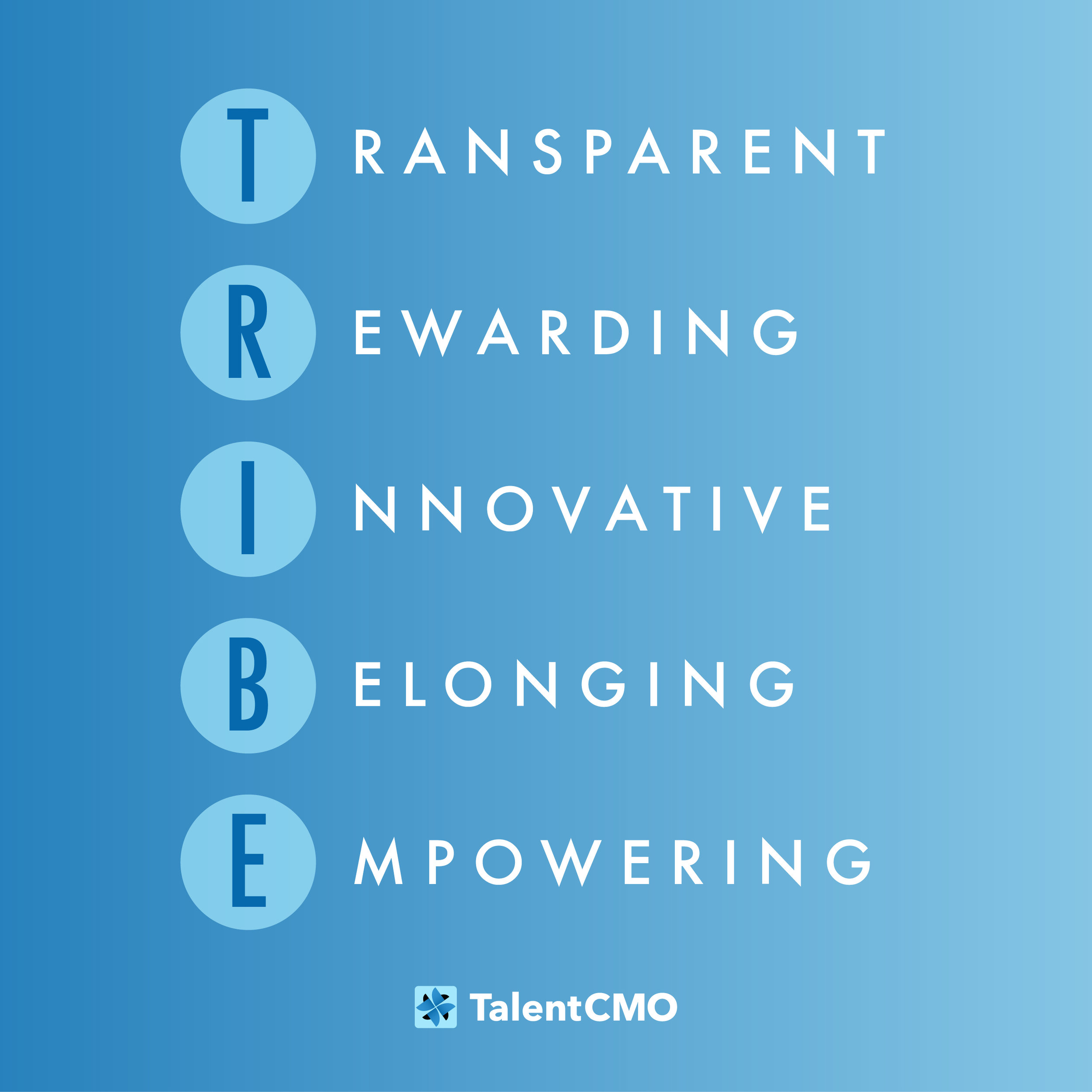 TalentCMO fosters a TRIBE culture