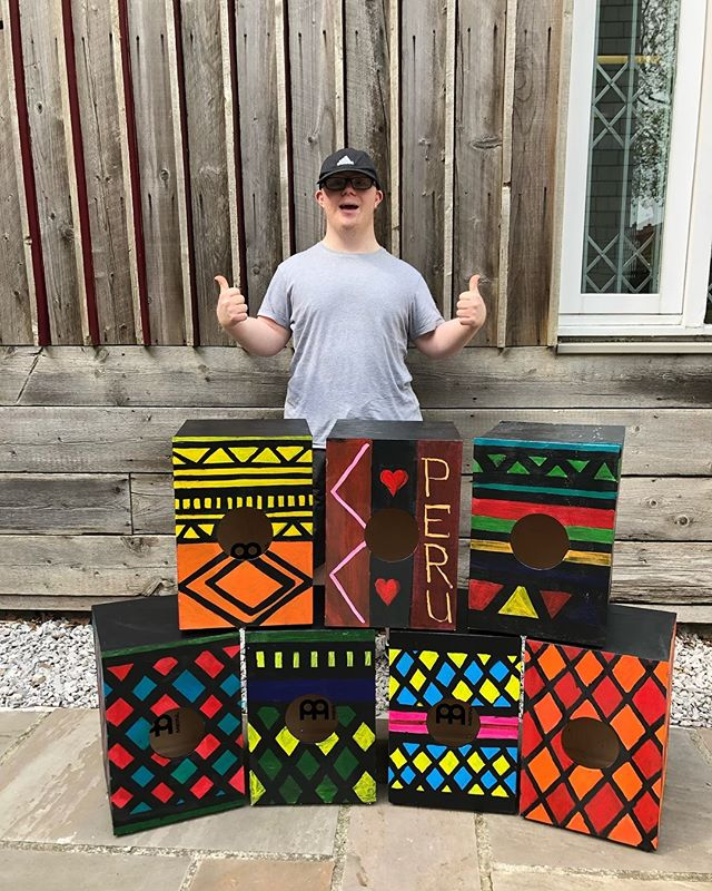 Cajon workshop complete🥁 Well done to everyone who took part making and decorating the drums you all did a brilliant job👏🏻 #cojon#drums#art#workshop#liverpool#liverpoolart#liverpooldrums#liverpoolartisit#drumig#diy#drumworkshop#music#peru#peruart#peruviandrums#peruvian