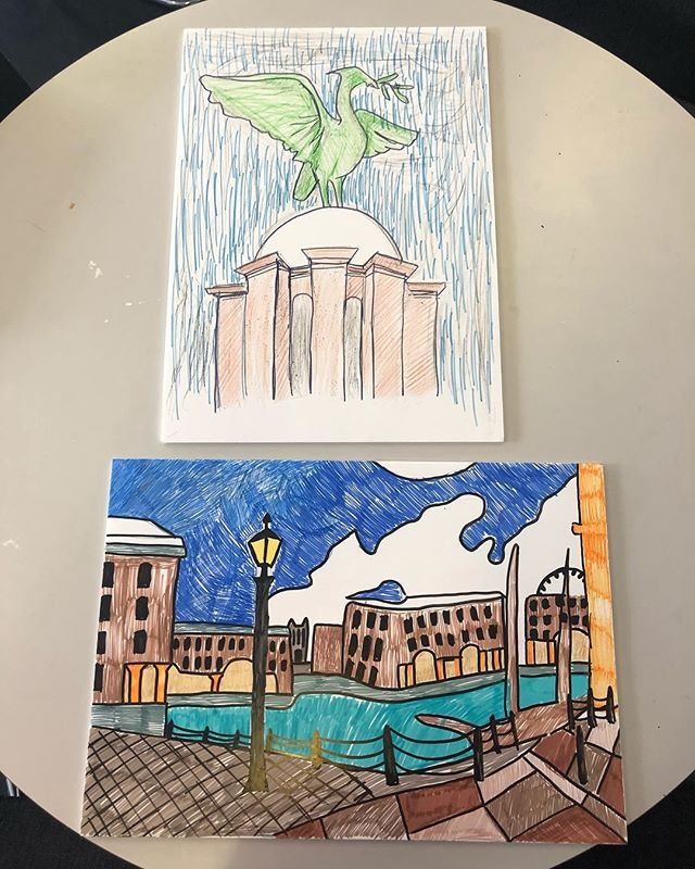 Base for our mosaics ready! Our new project has began!! If anyone has any brightly coloured tiles they can donate please get in touch via faye.lynch@liverpool.ac.uk  Thank you😆🖼 #art#artist#mosaic#liverpool#liverpoolart#liverpoolartist#landsacpe#albertdock#liverbirds#liverbuilding#followart#project#creative#artproject