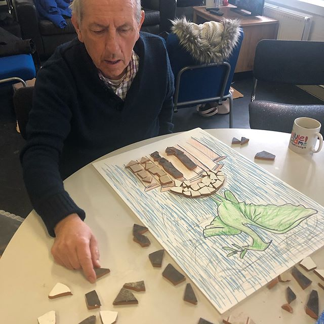 MOWLL's Mosaics of Merseyside are coming along nicely! Remember we can come and collect any spare tiles you may have lying around!