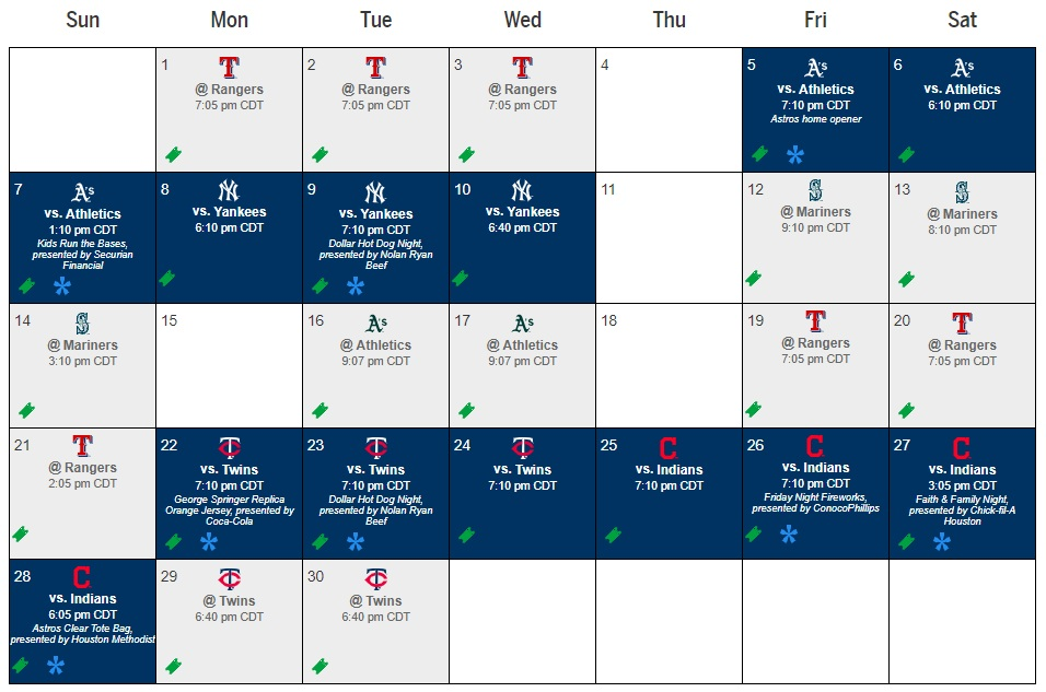 **HOME GAMES  (EVENT WORK DAYS)  IN BLUE