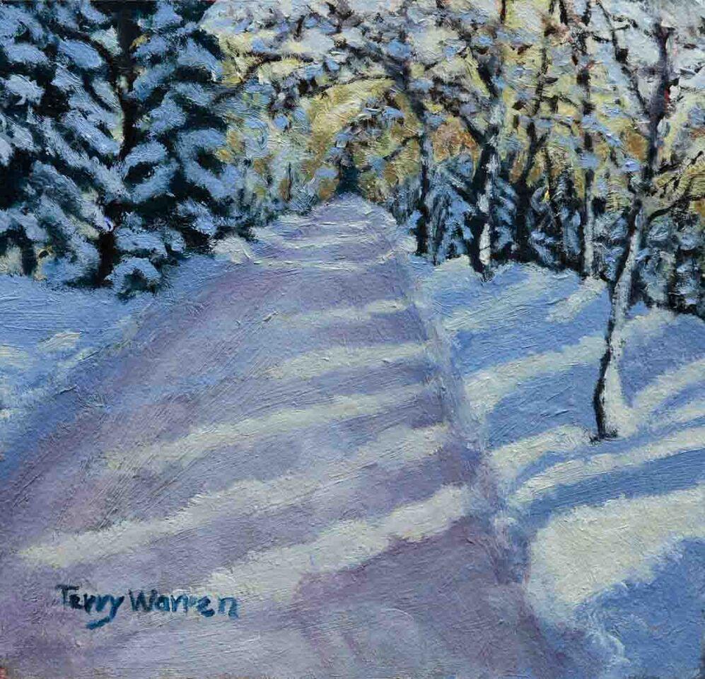 Towhee in Snow