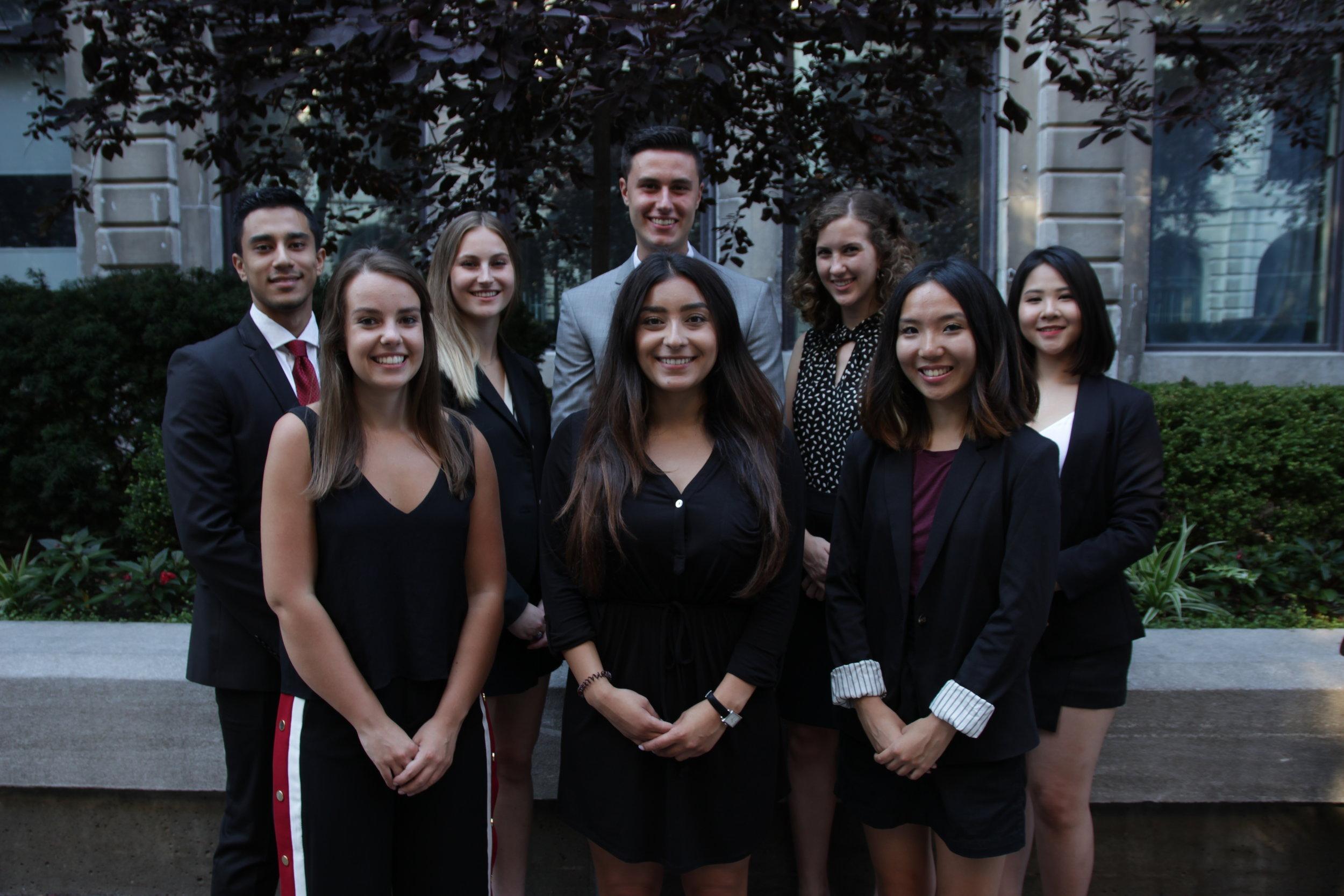 2019-2020 McGill Pre-Law Society Executive Team